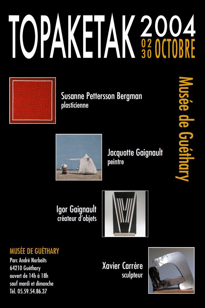 Programme exposition topaketak 2004 mus e de gu thary for Chambre criminelle 13 octobre 2004
